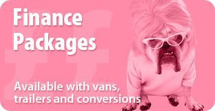 Finance Packages - Available with vans, trailers and conversions