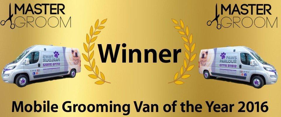Master Groom Winner Of Mobile Grooming Van The Year 2016